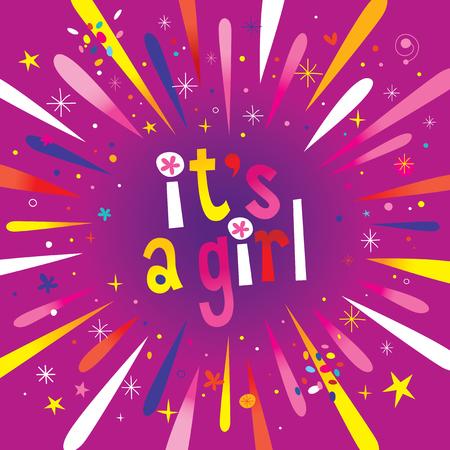 Ilustración de It's a girl burst explosion - Imagen libre de derechos