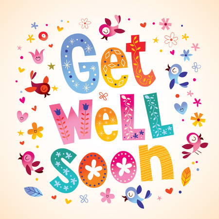 Illustration pour Get well soon card - image libre de droit