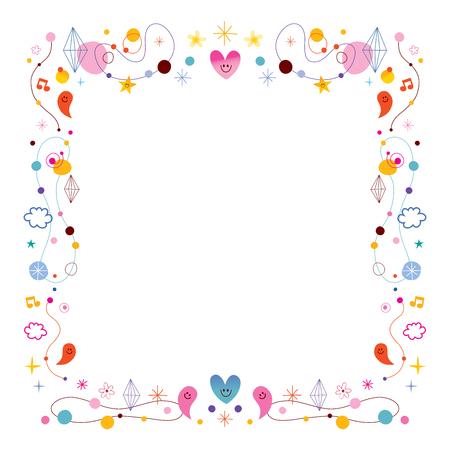 Ilustración de simple frame design elements - Imagen libre de derechos