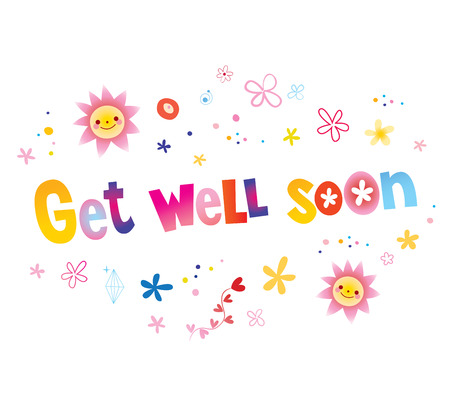 Illustration for Get well soon greeting card - Royalty Free Image