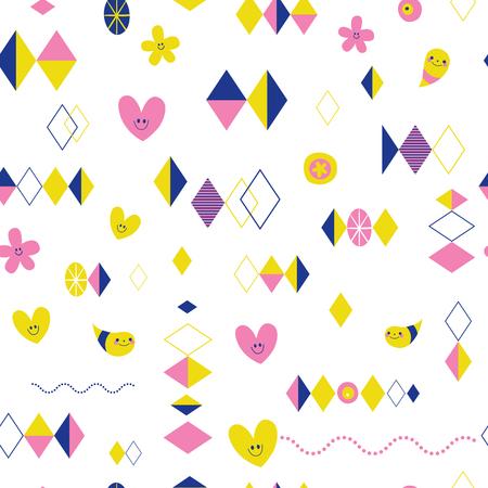 Illustration pour retro style seamless pattern - image libre de droit