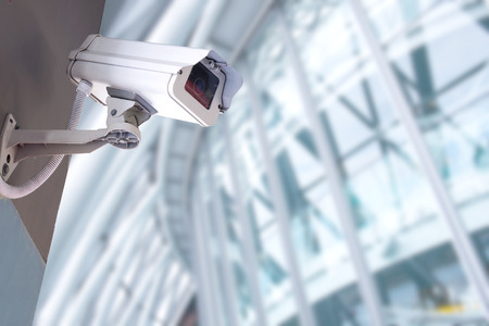 Foto de Security, CCTV, camera , office, system, alertness, building, control, electronics industry, guard, industry, lens, looking, privacy, protection, safety, secrecy, security, technology, video, watching, - Imagen libre de derechos