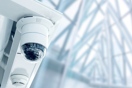 Photo for Security, CCTV camera in the office building - Royalty Free Image
