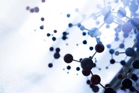 Foto de Science Molecule DNA Model Structure, business teamwork concept - Imagen libre de derechos