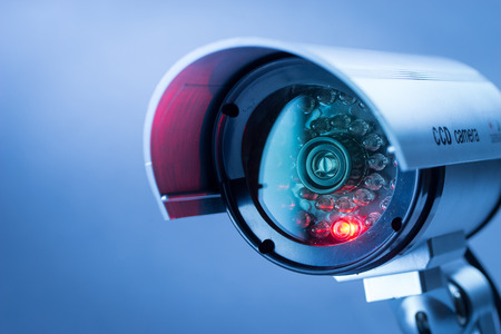Foto de Security CCTV camera in office building - Imagen libre de derechos