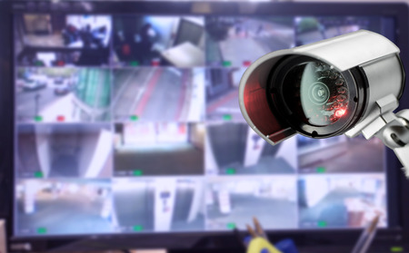 Foto für CCTV security camera monitor in office building - Lizenzfreies Bild