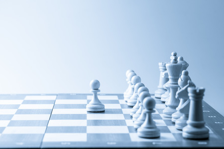 Foto per Chess figure, business concept strategy, leadership, team and success - Immagine Royalty Free