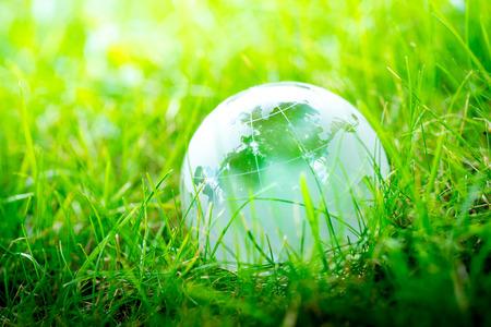 Photo pour Green & Eco environment, glass globe in the garden - image libre de droit