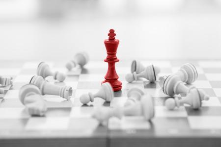 Photo pour Chess business concept, leader & success - image libre de droit