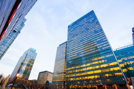 Foto de Windows of Skyscraper Business Office, Corporate building in London City, England, UK - Imagen libre de derechos