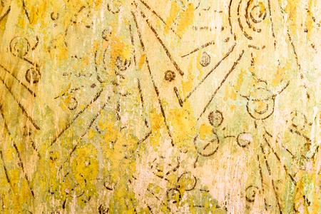 Foto de Old wall texture with pattern, retro background, 80s style - Imagen libre de derechos