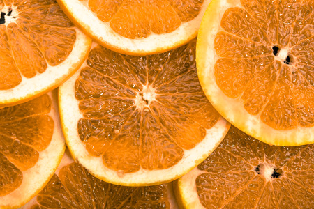 Photo pour Sliced oranges fruit texture, natural background - image libre de droit