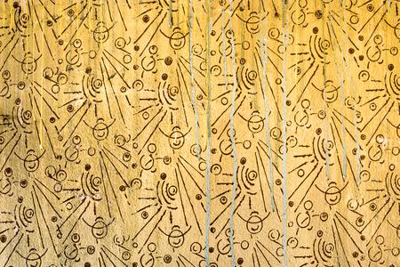 Foto de Old wall texture with geometric pattern, retro background, 80's, 70's style - Imagen libre de derechos