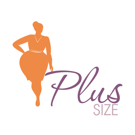 Illustrazione per Plus size woman icon illustration - Immagini Royalty Free