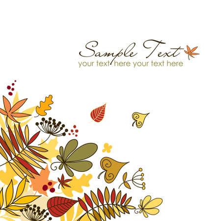 Beautiful autumn fallen leaves