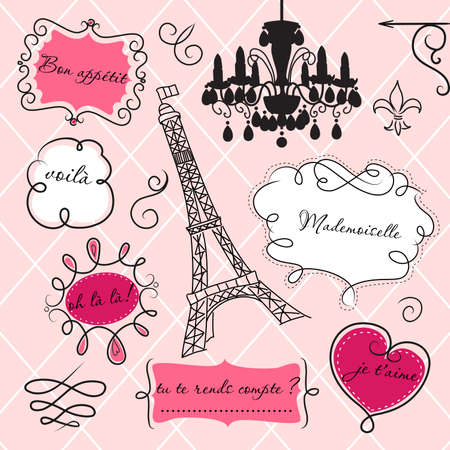 Foto de Doodle frames in French style - Imagen libre de derechos