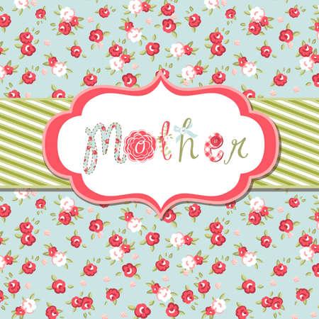 Foto de Hand drawn Vector floral frame with a word mother. Great Mother's day card - Imagen libre de derechos