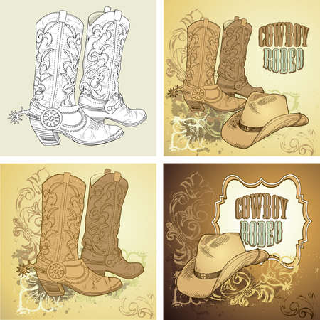 Illustration pour Cowboy background  - image libre de droit