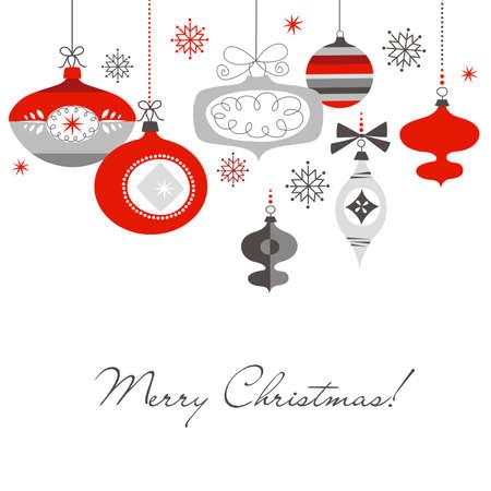 Ilustración de Retro Christmas Ornaments - Imagen libre de derechos