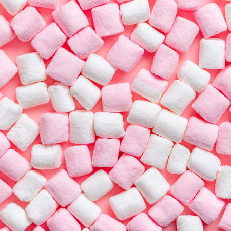 Photo for Beautiful pink and white sweet marshmallow like background, festive concept - Royalty Free Image