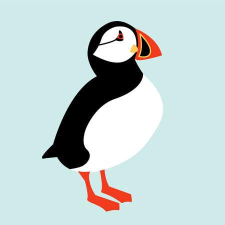 Illustration pour Icelandic Puffin bird icon. Vector illustration - image libre de droit