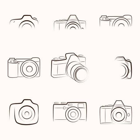 Illustration pour Camera Outline - image libre de droit