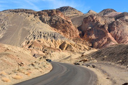 Photo for One-way Artists Drive road in the Death Valley National Park in USA. - Royalty Free Image