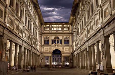 Photo for Uffizi Gallery, primary art museum of Florence  Tuscany, Italy - Royalty Free Image