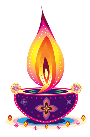 Illustrazione per diwali candle light - Immagini Royalty Free