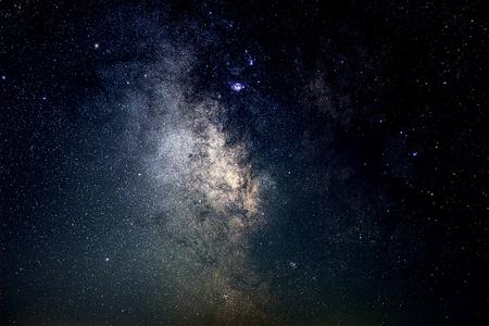 Foto de Milky Way Galaxy Background Close-up of Milky way. Long exposure photograph. - Imagen libre de derechos