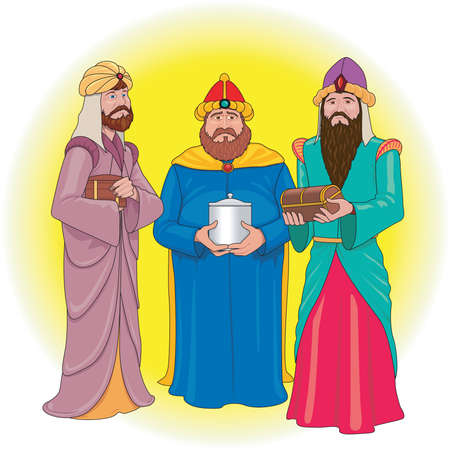 Ilustración de Three Wise Men Illustration - Imagen libre de derechos