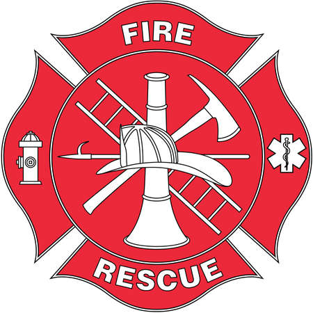 Illustration for Fire and Rescue Logo Illustration - Royalty Free Image