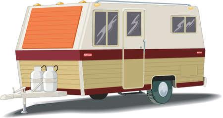 Illustration pour Camper Illustration - image libre de droit