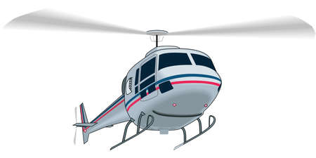 Illustration pour Helicopter Illustration - image libre de droit