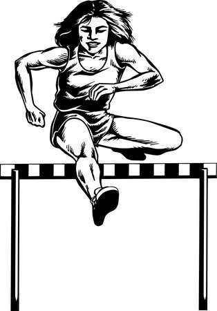 Ilustración de Hurdler Illustration. - Imagen libre de derechos