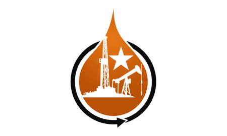 Ilustración de Oil Mining logo concept design. - Imagen libre de derechos
