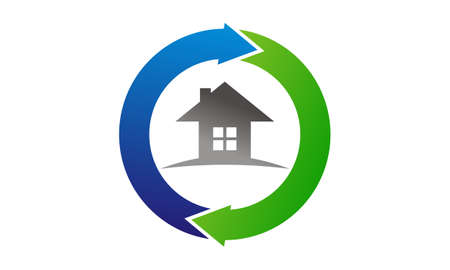 Illustration for Home Buy Sell Solutions Logo Vector illustration. - Royalty Free Image