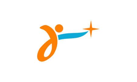 Ilustración de Reach Star Success illustration good for logo on a plain background. - Imagen libre de derechos