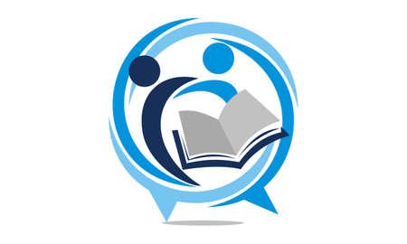 Foto de Education Sharing Logo Design Template Vector. - Imagen libre de derechos