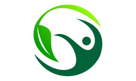 Ilustración de Complete Wellness Logo Design Template Vector - Imagen libre de derechos