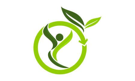 Ilustración de Eco Life Healthy icon logo vector illustration. - Imagen libre de derechos