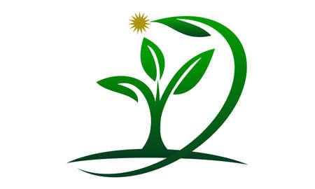 Ilustración de Eco Green Success icon logo vector illustration. - Imagen libre de derechos