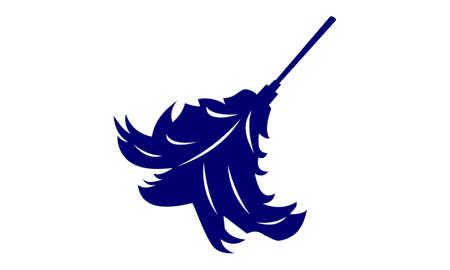 Ilustración de Dust Feather Logo Design Template Vector - Imagen libre de derechos