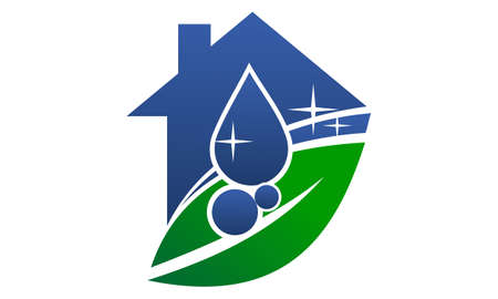Ilustración de Eco Friendly Cleaning Service logo - Imagen libre de derechos