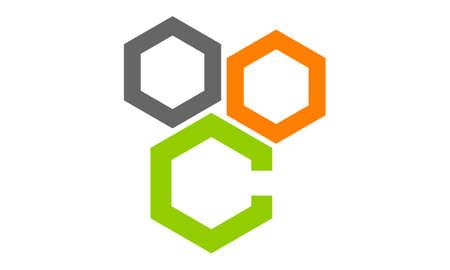 Ilustración de Hexagon Letter C - Imagen libre de derechos