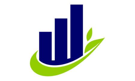 Illustration pour Business growth icon design template illustration. - image libre de droit
