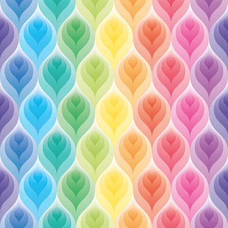 Illustration pour Rainbow wallpaper. 3d seamless background. Vector EPS10. - image libre de droit
