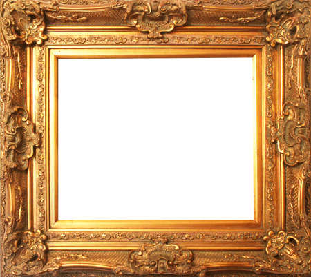 Photo for old antique gold frame - Royalty Free Image