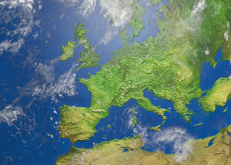 Photo pour Shaded relief map of europe - image libre de droit