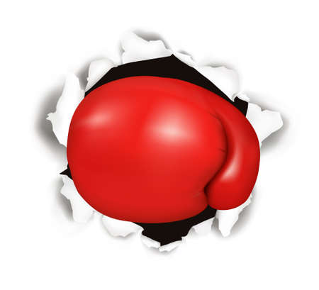 Red boxing glove. Conceptual illustration.